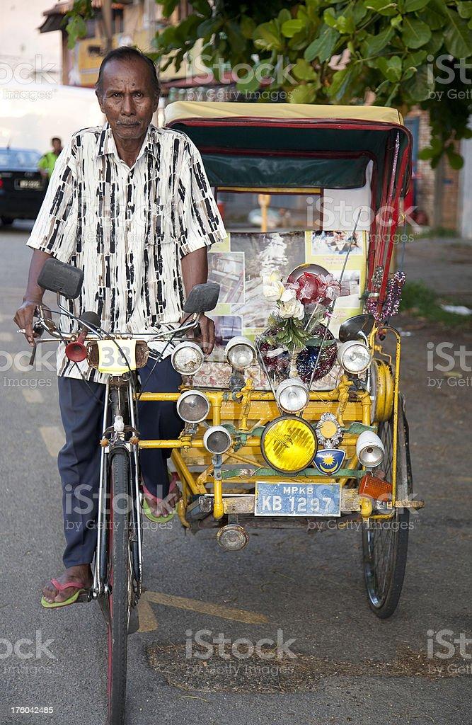 Malaysia, trishaw, Kota Bharu. royalty-free stock photo