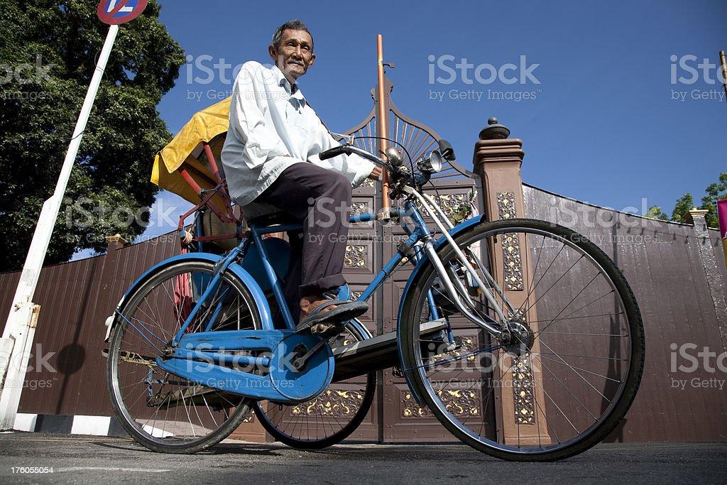 Malaysia, trishaw, Kota Bharu. stock photo
