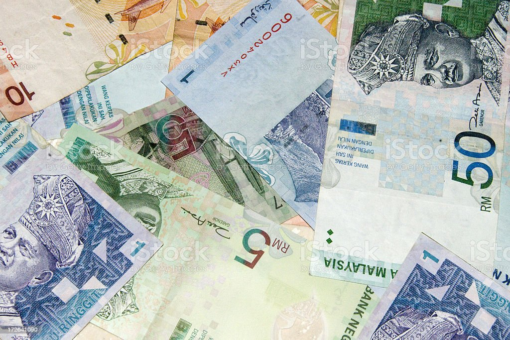 Malaysian currency stock photo