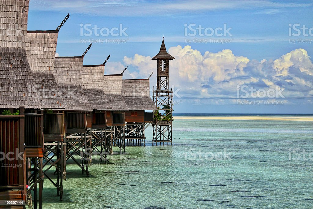 Malaysian Floating Village stock photo