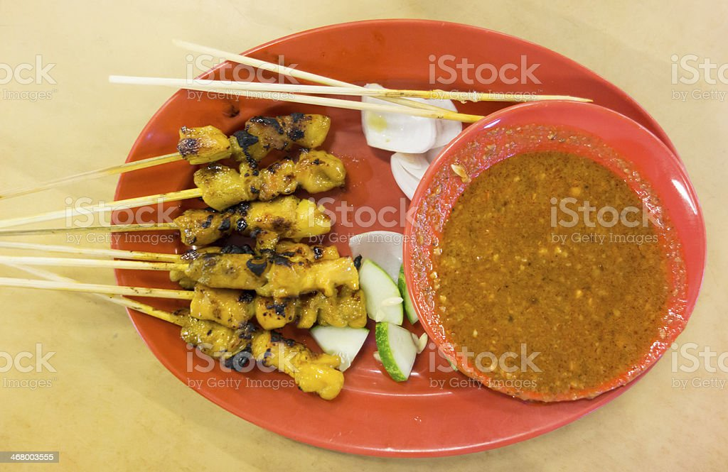 Malaysian Grilled Satay stock photo