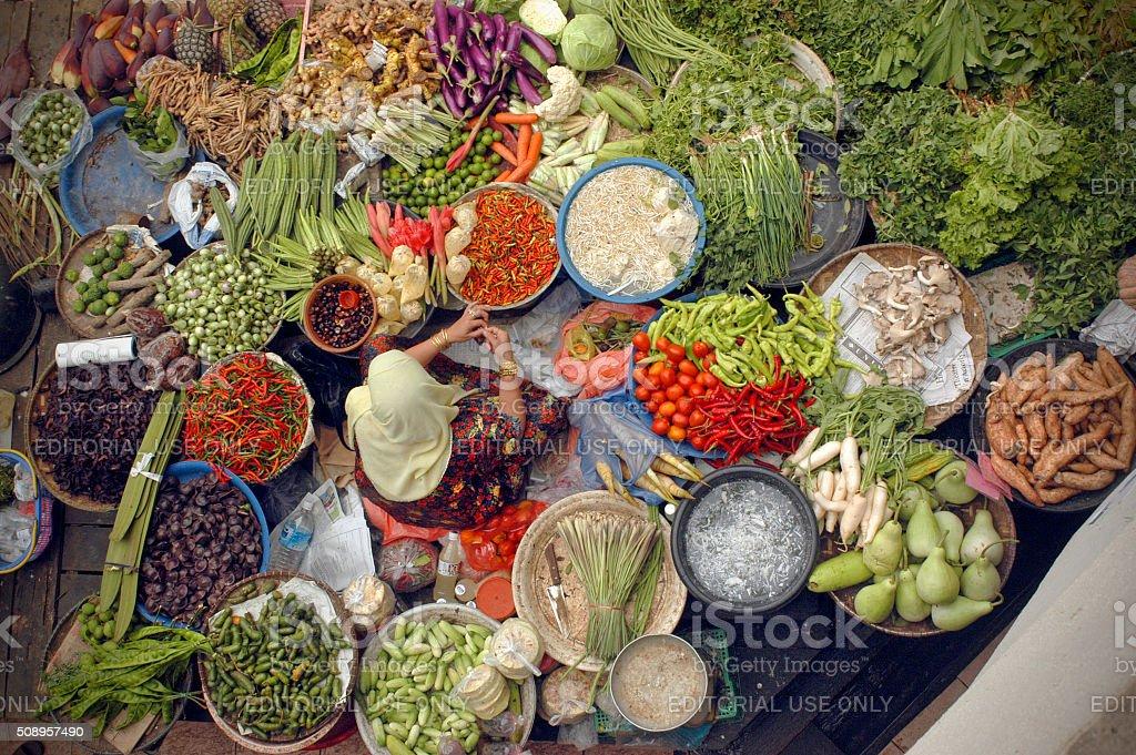 Malaysian Market stock photo
