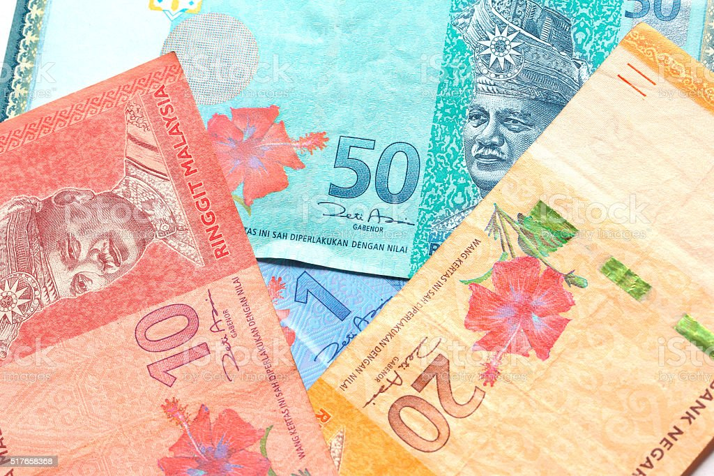 Malaysian money ,Malaysian currency Bank Notes stock photo