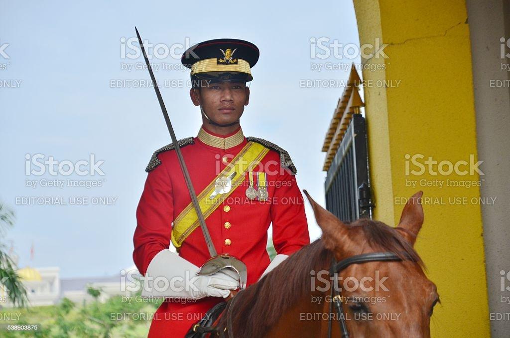 Malaysian National Palace guards stock photo