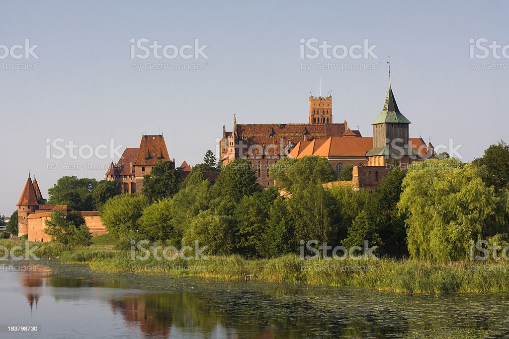Malbork castle, Poland stock photo