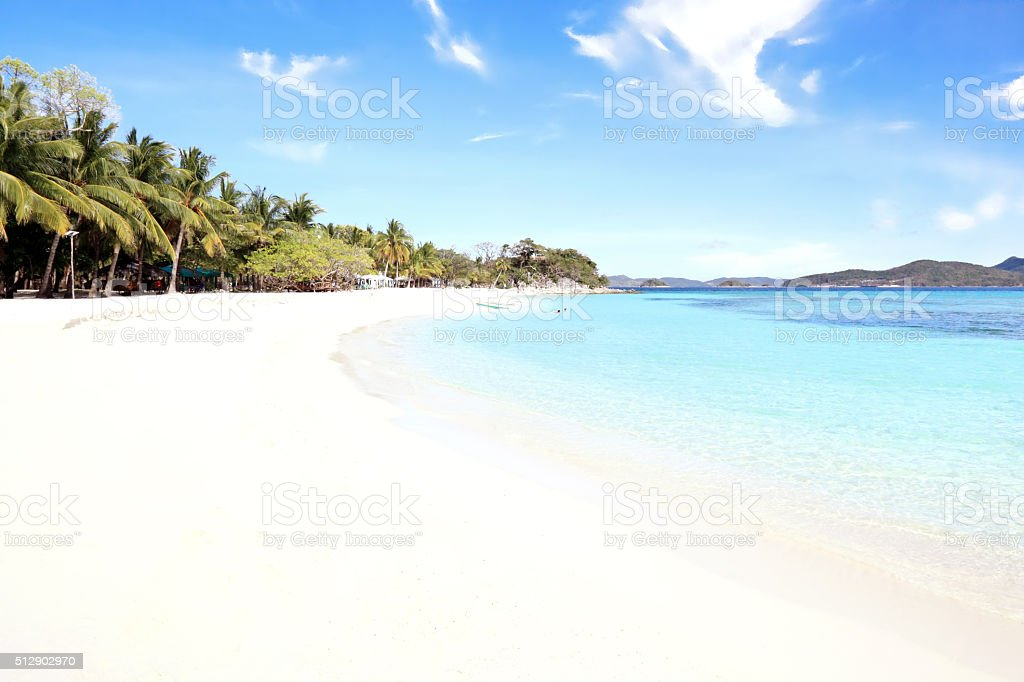 Malcapuya Island Beach stock photo