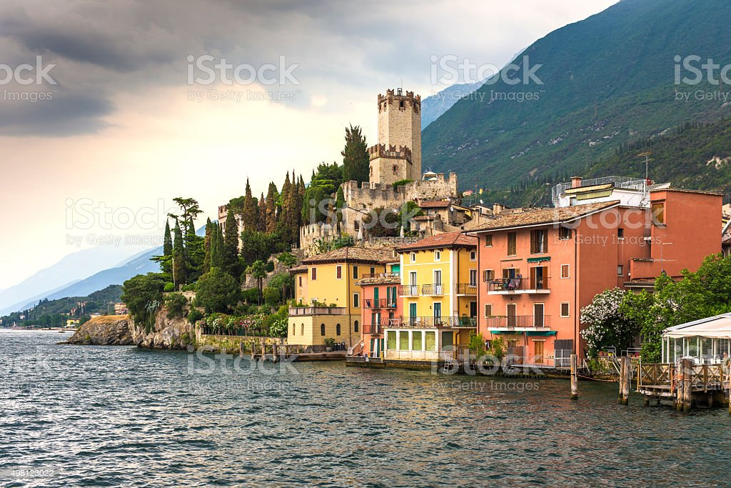Malcesine and Lake Garda stock photo