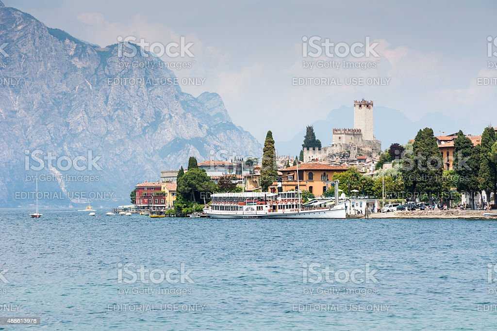Malcesine at Lake Garda stock photo