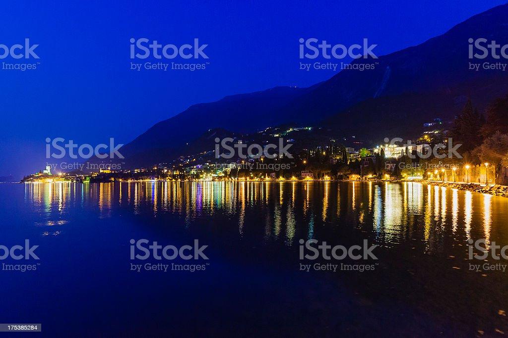 Malcesine by Night, Lake Garda royalty-free stock photo