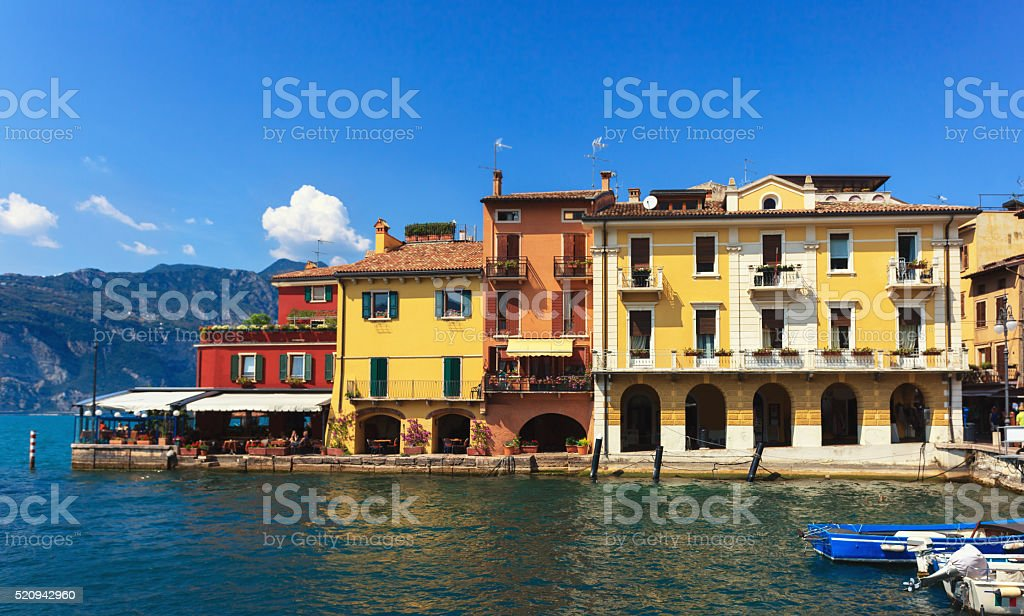 Malcesine coast stock photo