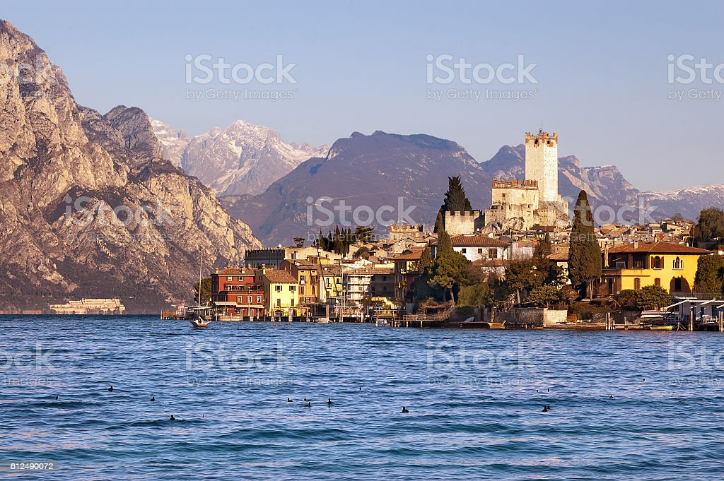 Malcesine - Garda Lake - Veneto Italy stock photo