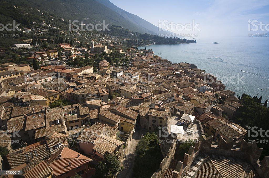 Malcesine, lake Garda, Italy stock photo
