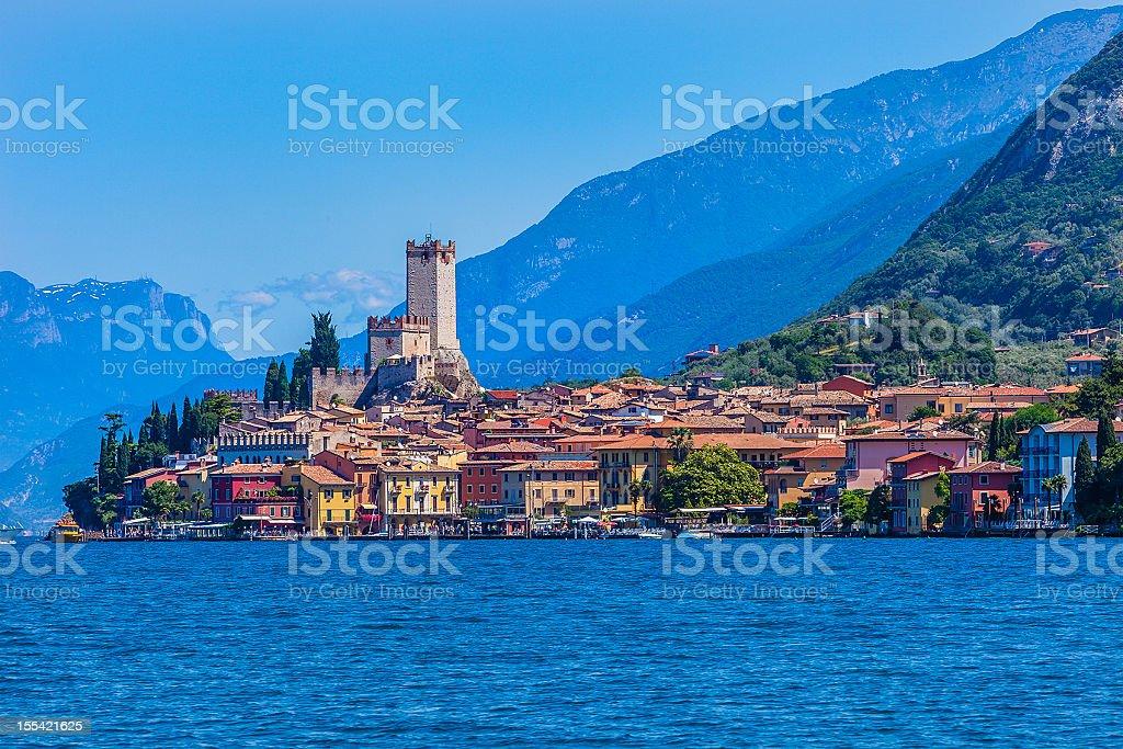 Malcesine on Lake Garda, Italy royalty-free stock photo
