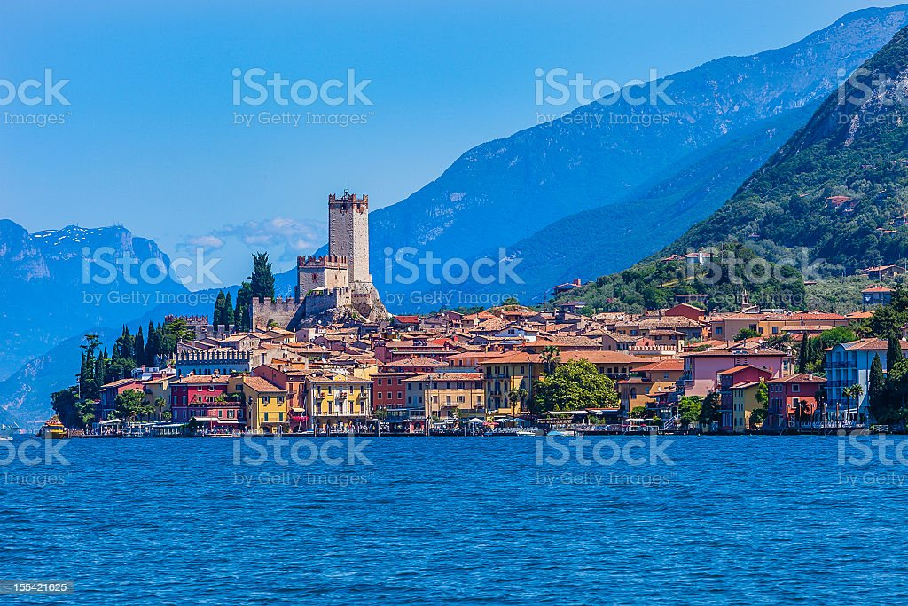Malcesine on Lake Garda, Italy stock photo