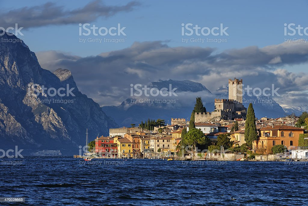 Malcesine (Garda Lake) stock photo