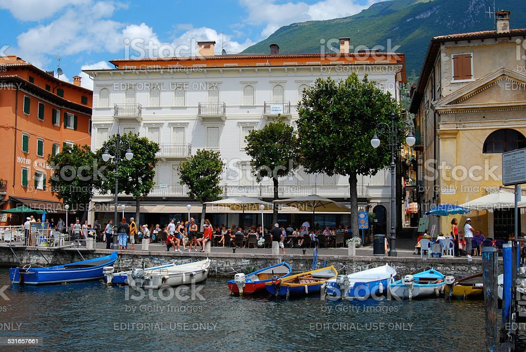 Malcesine,Italy,waterfront scene stock photo