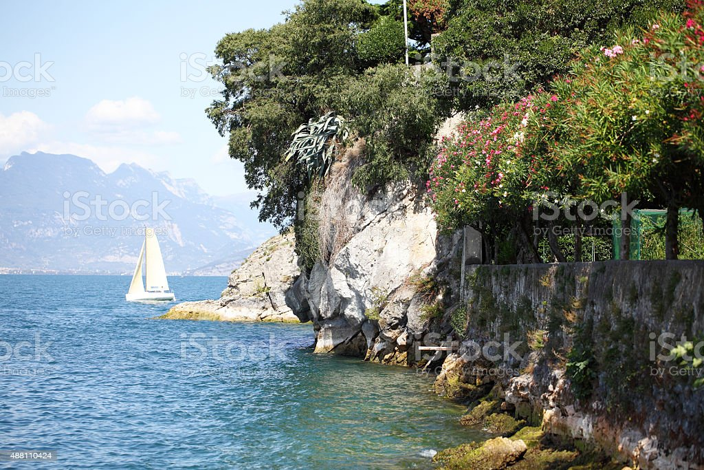 Malcesine,Lake Garda,Italy stock photo