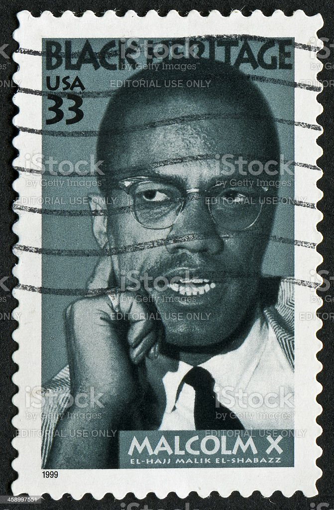 Malcolm X Stamp royalty-free stock photo