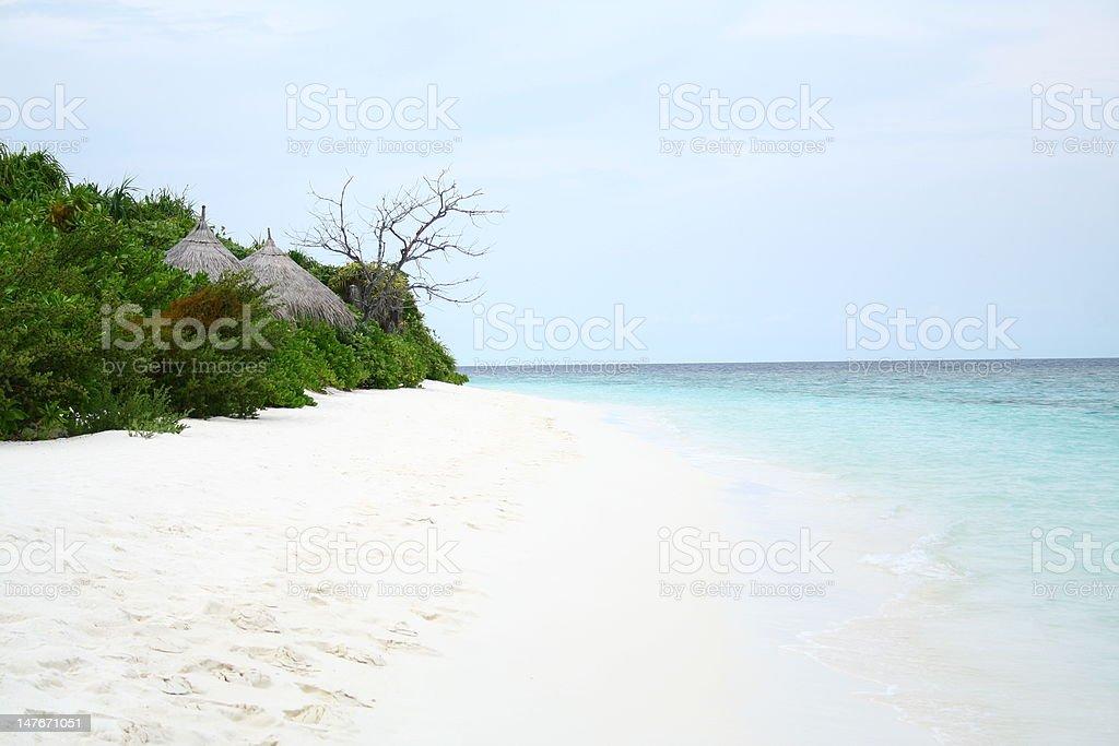 Maldives beach royalty-free stock photo