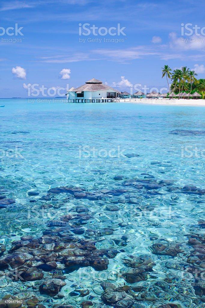 Maldives Dream Island stock photo