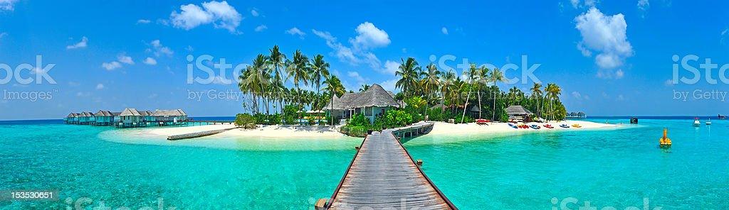 Maldives island Panorama stock photo