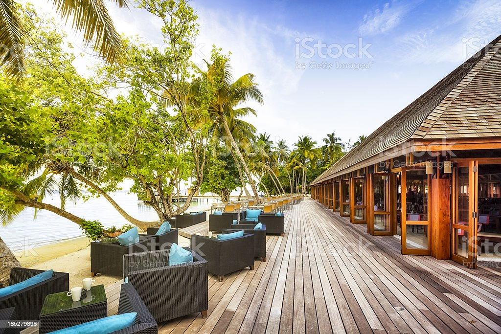 Maldives Island Resort - Vilamendhoo stock photo