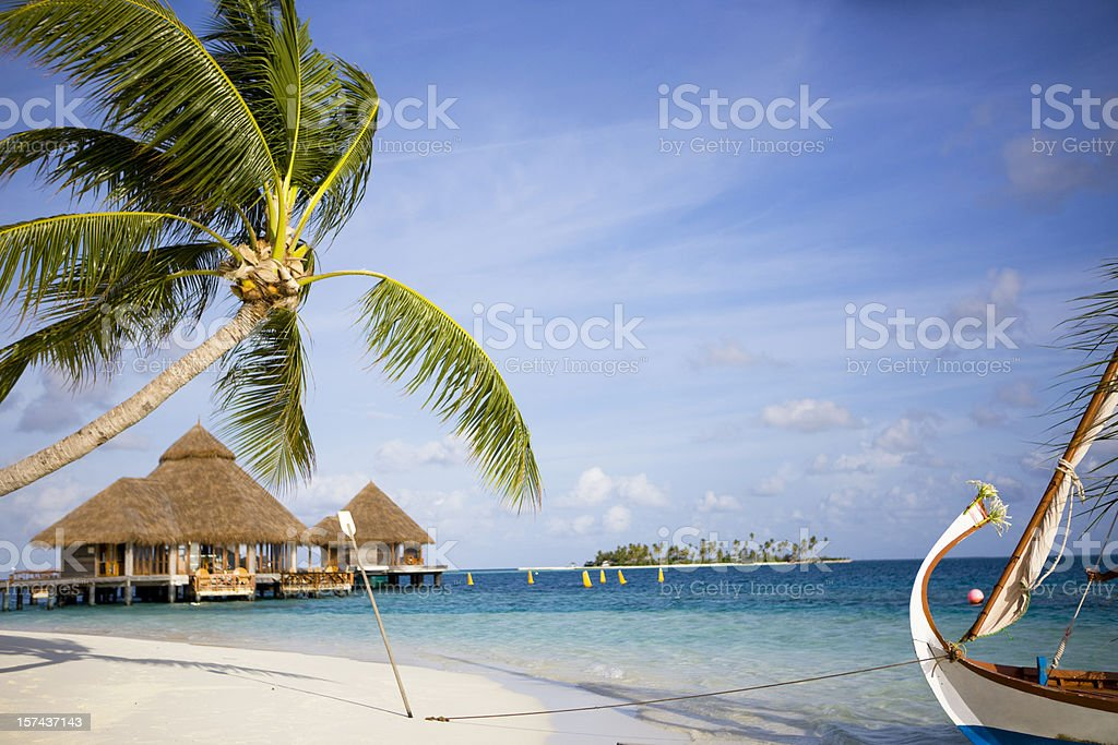 Maldives paradise royalty-free stock photo