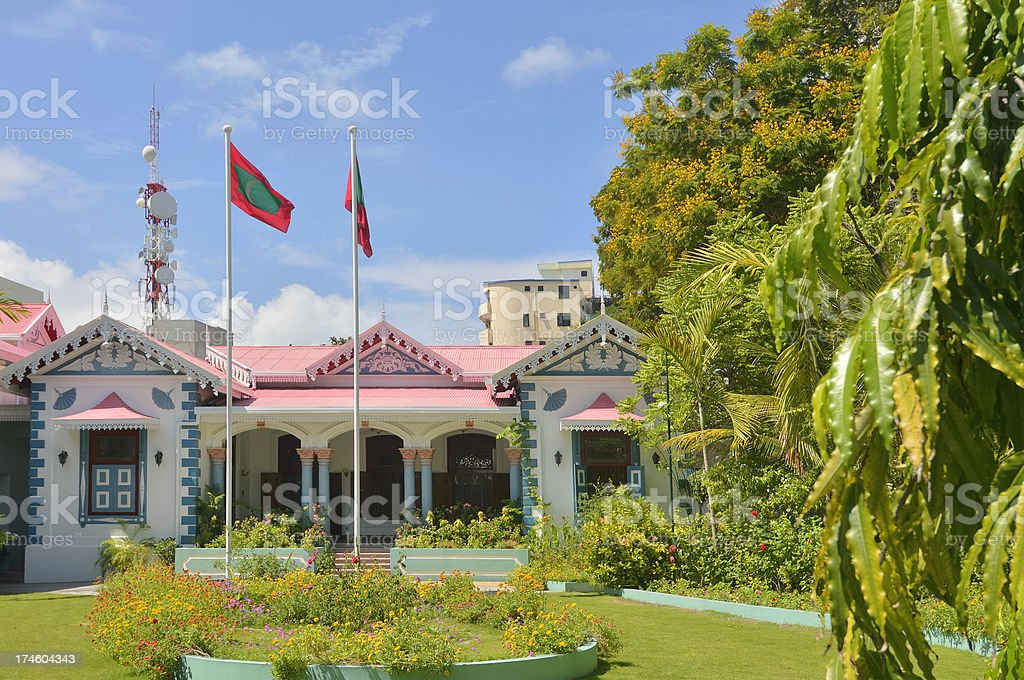Maldives Presidental Residence stock photo