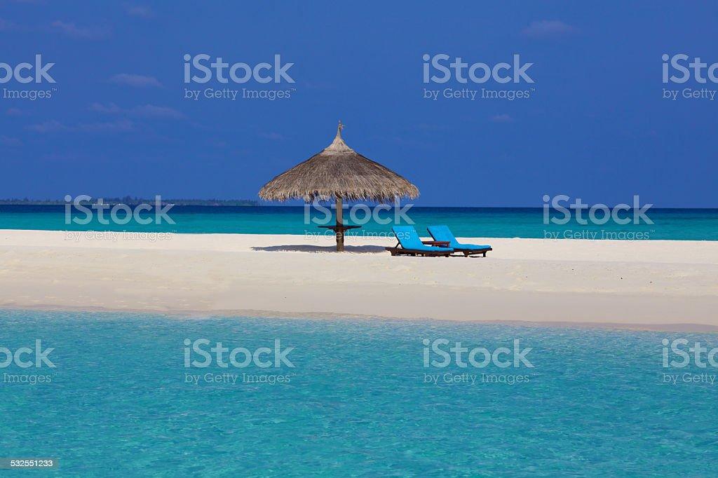 Maldives Sandbank stock photo