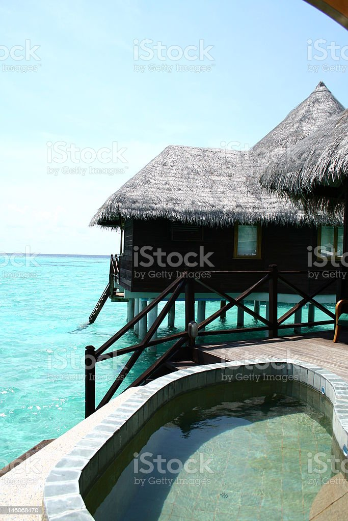 Maldives Villa royalty-free stock photo