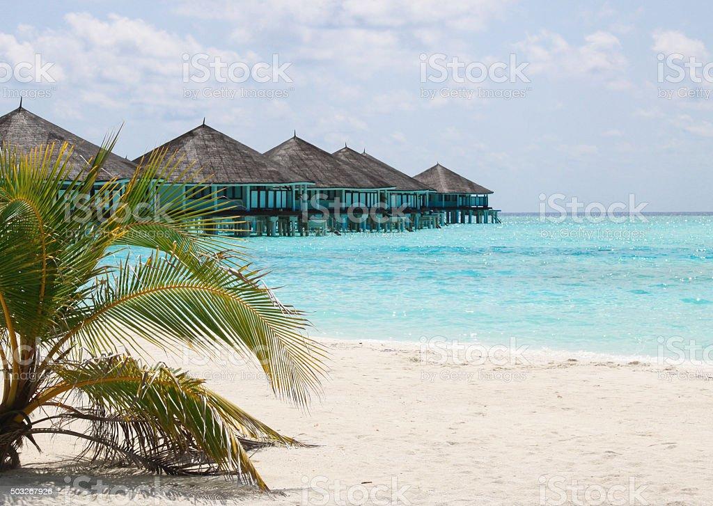 Maldives Water Villas stock photo
