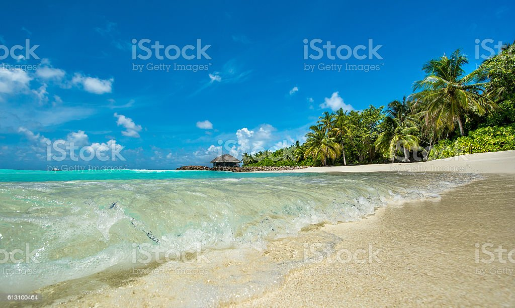 maldives waves stock photo