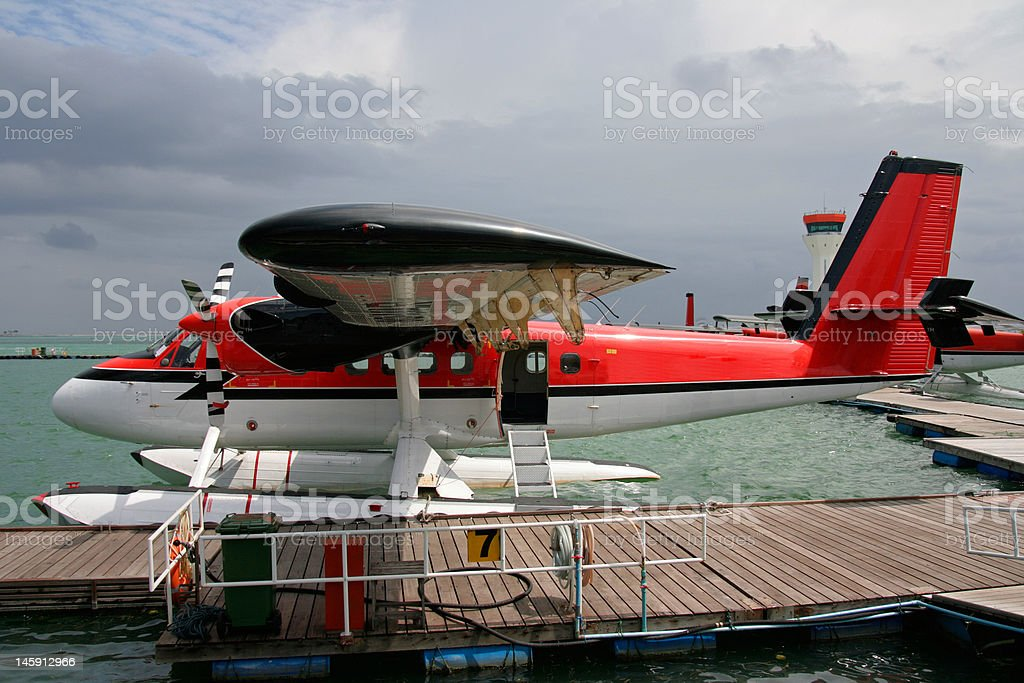 Maldivian Air Taxi stock photo