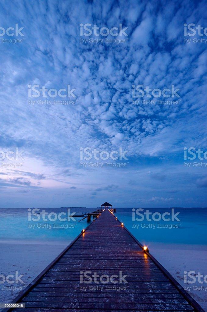 Maldivian Evening Scenic stock photo