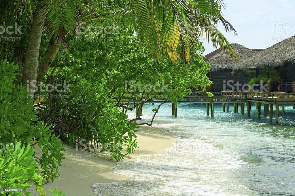 Casa das Maldivas foto royalty-free