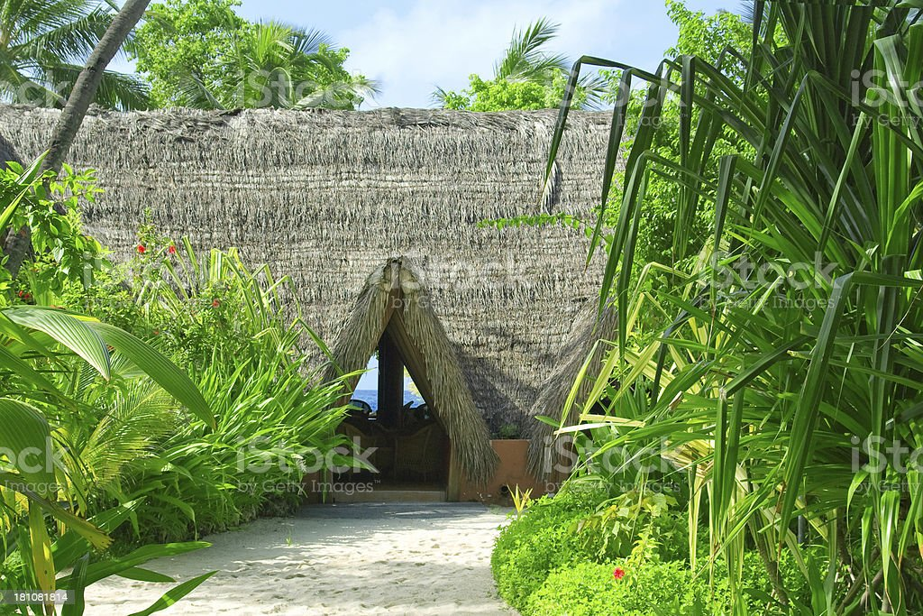 Maldivian House royalty-free stock photo