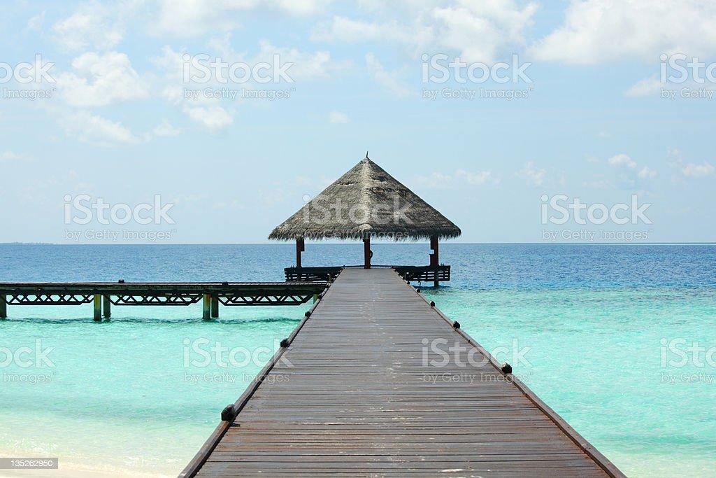 maldivian houses royalty-free stock photo