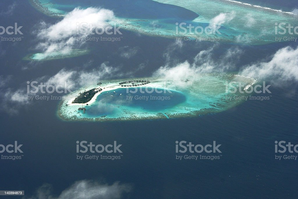 Maldivian Island royalty-free stock photo