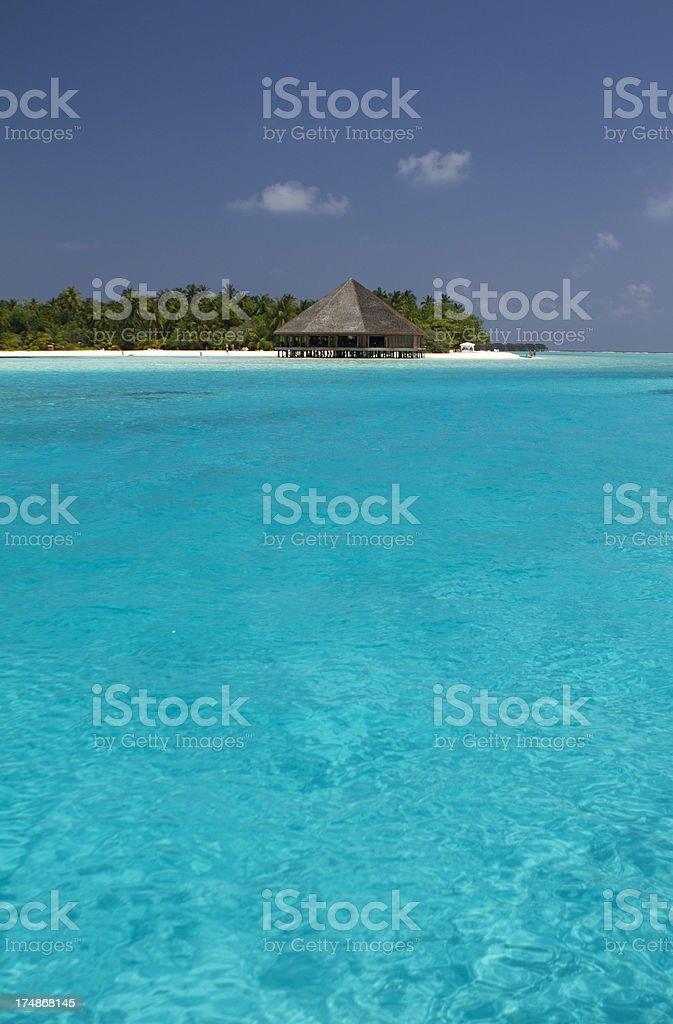 Maldivian luxury resort royalty-free stock photo
