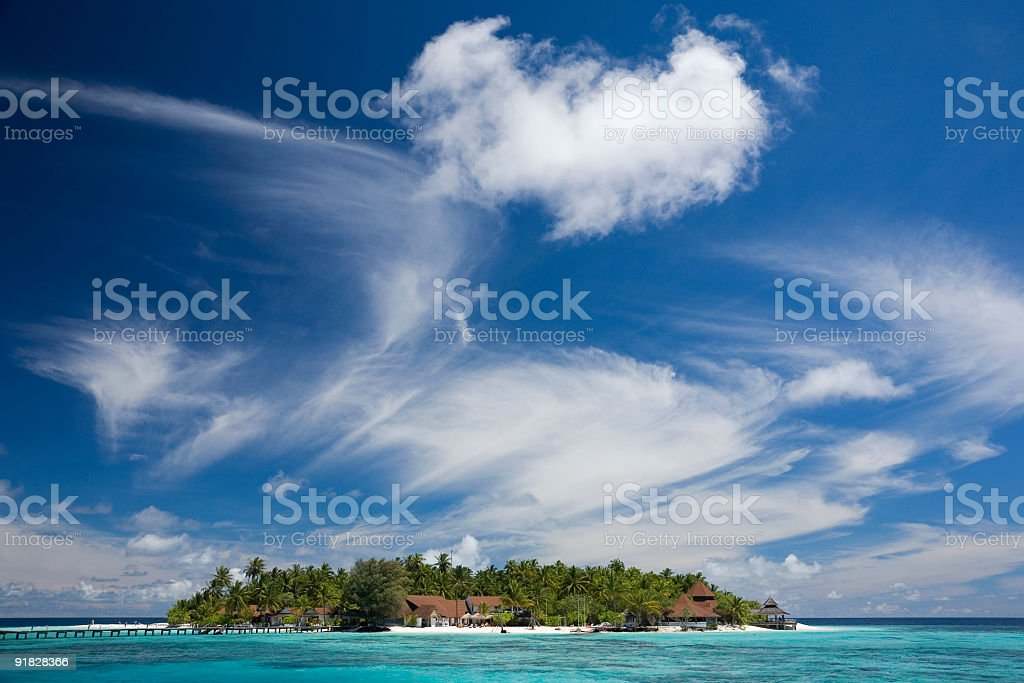 Maldivian Resort royalty-free stock photo