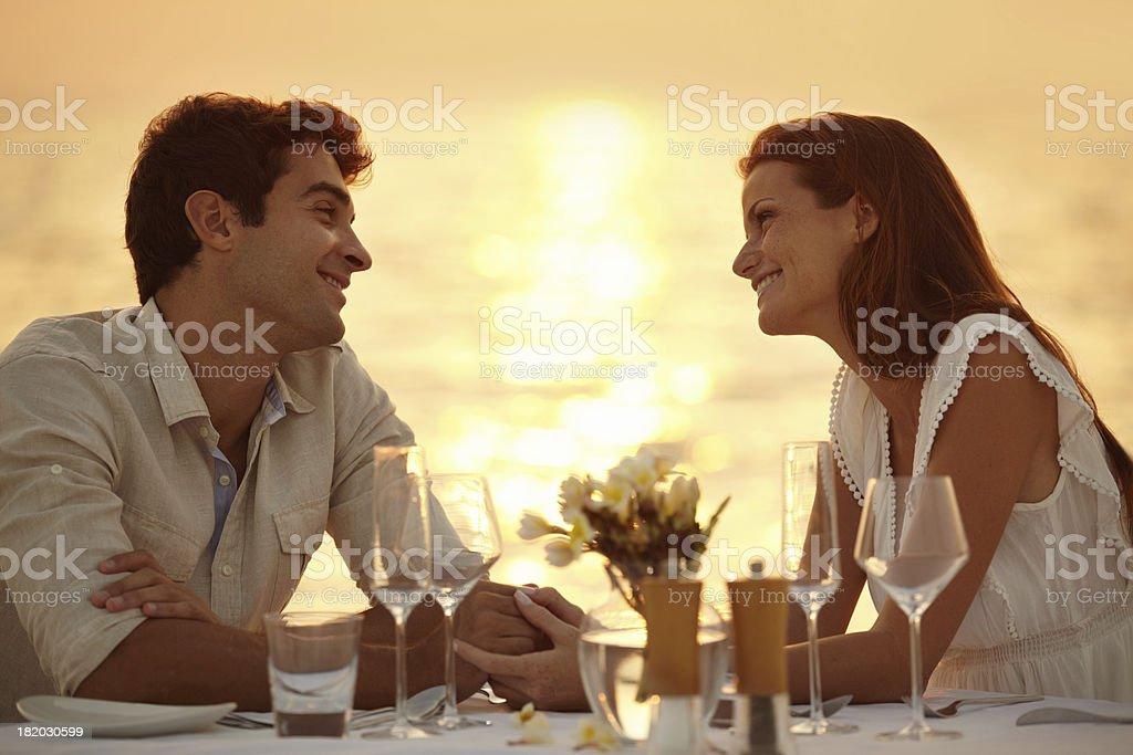 Maldivian romantic dinner royalty-free stock photo