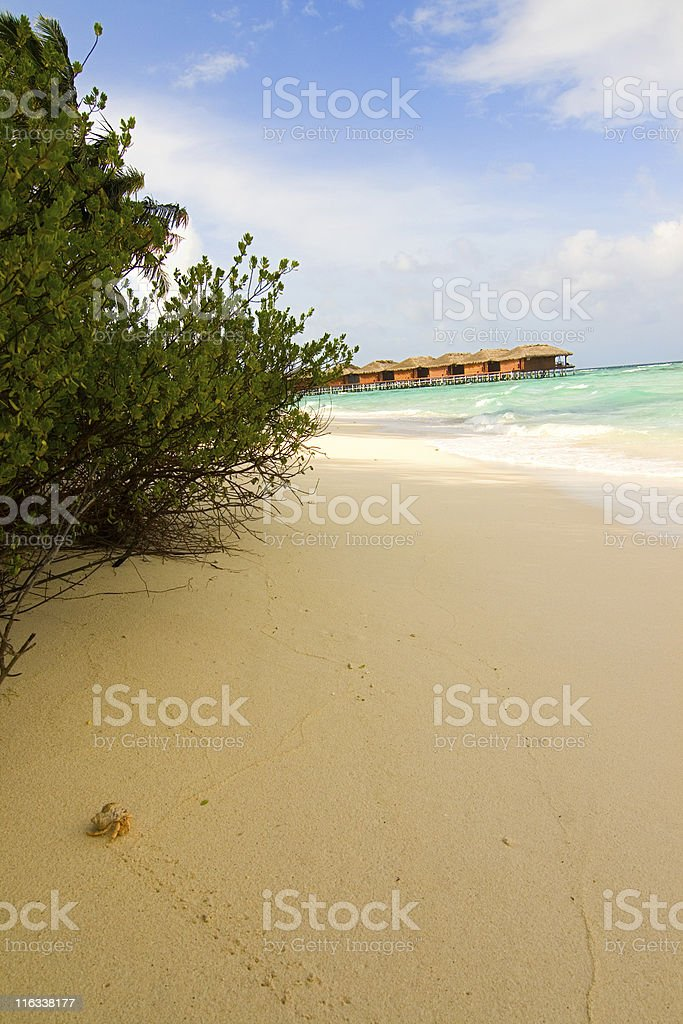 Maldivian water resort royalty-free stock photo