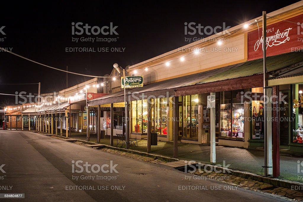 Maldon High Street at Night stock photo
