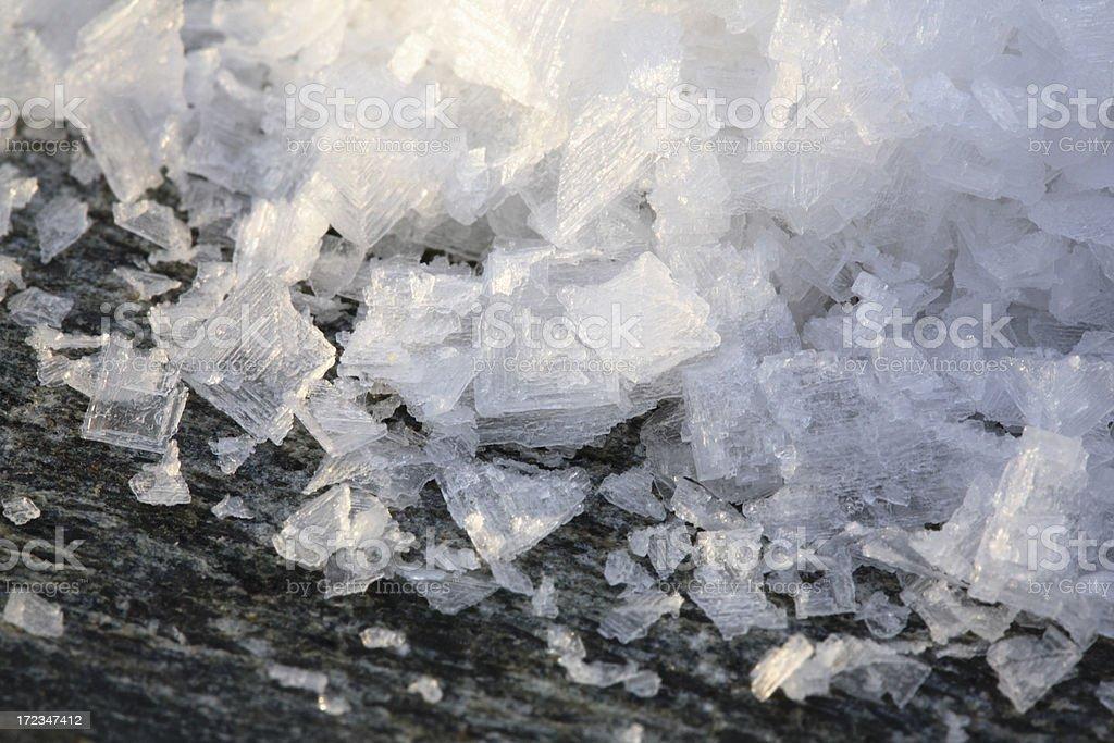 Maldon salt. stock photo