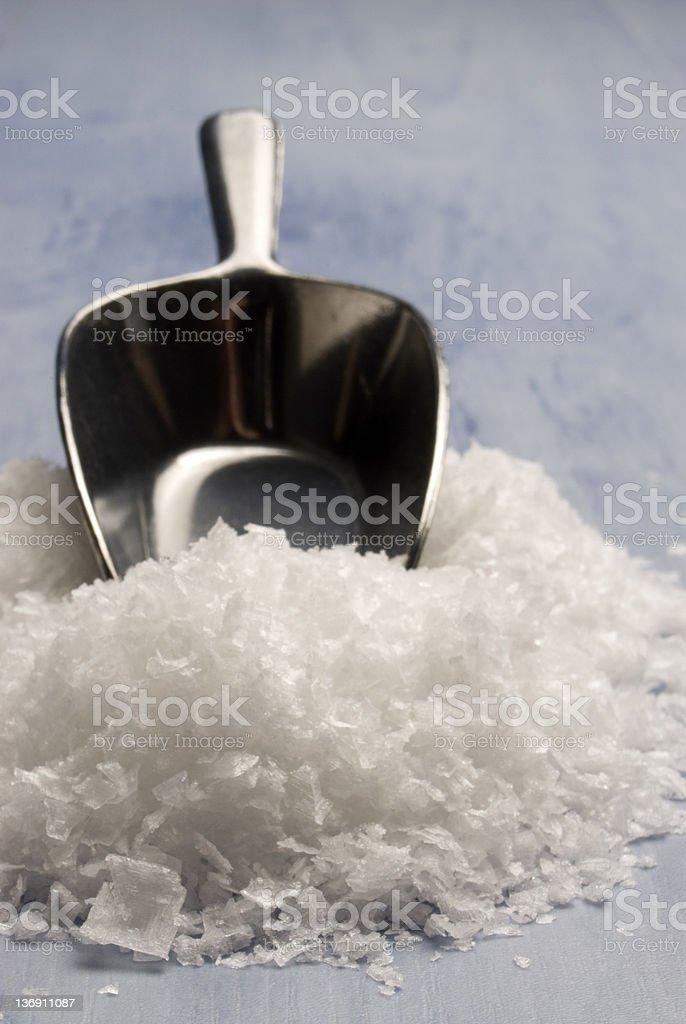 Maldon sea salt. stock photo