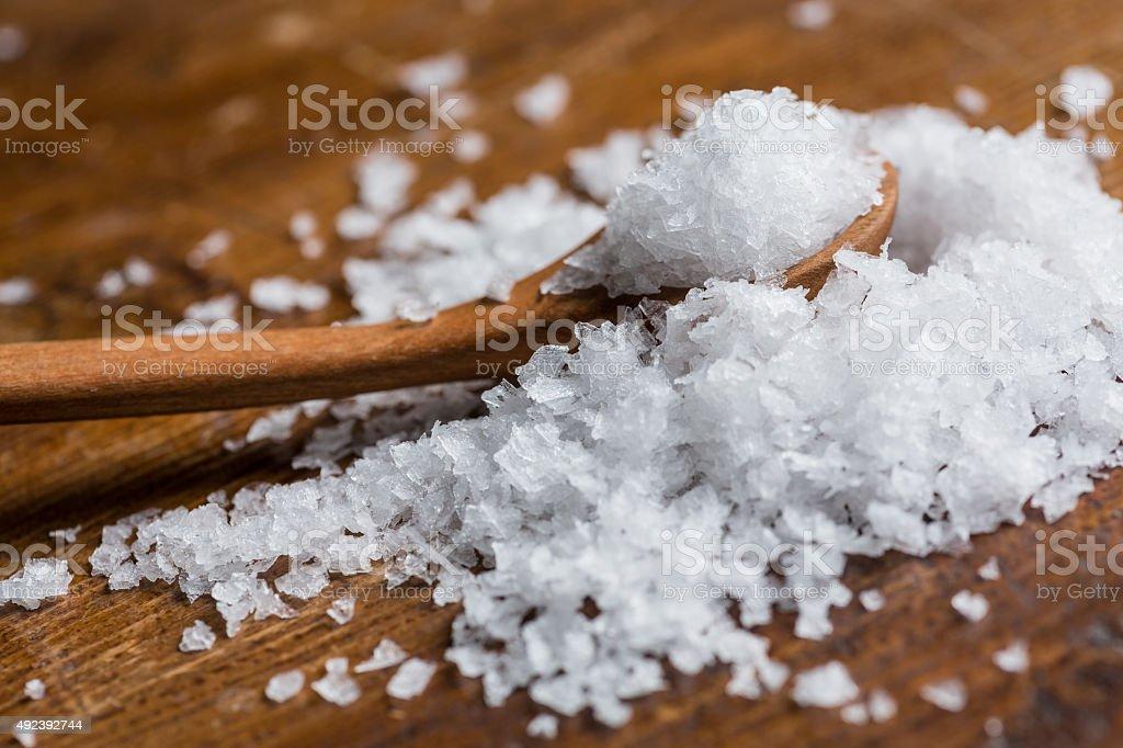 Maldon sea salt stock photo