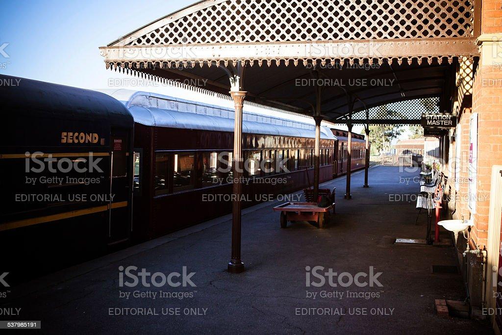 Maldon Train Station stock photo