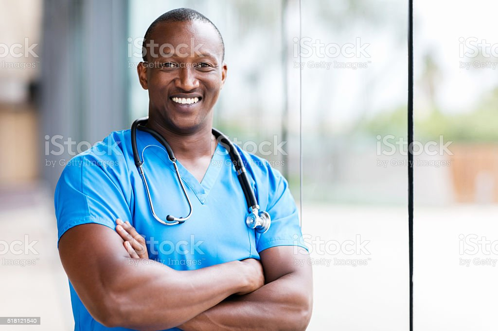 male african medical surgeon stock photo