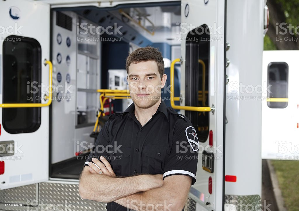 Male Ambulance Personal Portrait stock photo