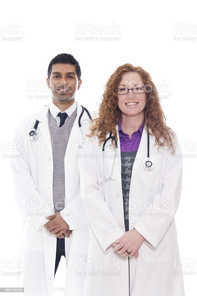 Male & Female Medical Professionals Standing Together royalty-free stock photo